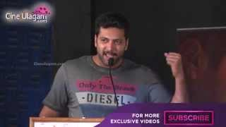 Jayam Ravi Emotional Speech at Thani Oruvan Success Meet