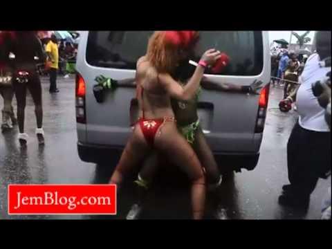 Rihanna Dances in Red Bikini in Barbados