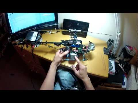 TREX 450 RC helicopter GoPro mounting Stretch FPV setup tutorial review