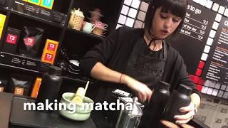 T2 London: tea tasting and making matcha
