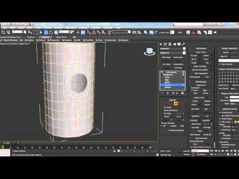 3ds max: вырезаем круг с правильной топологией в цилиндре