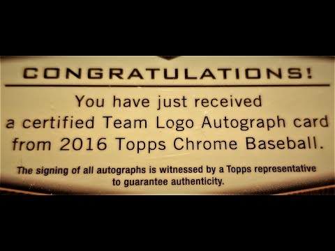 "(EPISODE 1,655) UNBOXING VIDEO: TOPPS  CHROME BASEBALL 2016 MYSTERY ""MOJO"" REDEMPTION ? ? @Topps"
