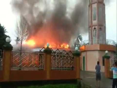 Video Kebakaran masjid Lasangkuru peneki