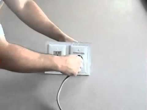 Install TV above fireplace pt 3- cabling and power - YouTube