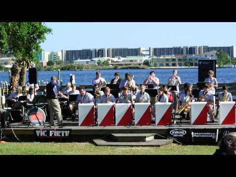 Fort Walton Beach High School Jazz Band - Jazz in the Park 5/3/14