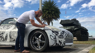 Plastidipped 350Z Sharpie Art Car #ARTCAR