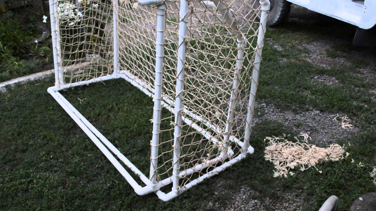 Ворота футбольные из пластиковых труб