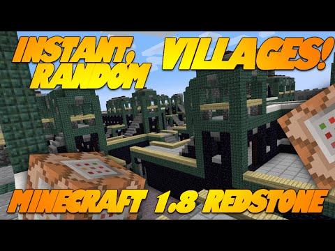 Minecraft Redstone INSTANT VILLAGES IN VANILLA MINECRAFT! Minecraft 1.8 Update (Snapshot)