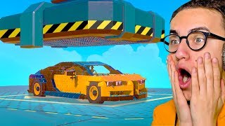 HYDRAULIC PRESSING MY EXPENSIVE SUPERCAR! (Trailmakers)