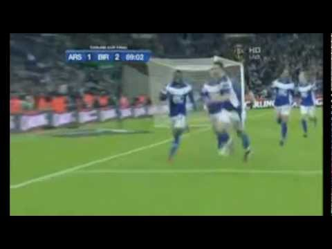 Birmingham City vs Arsenal - Carling Cup Final - Martins Winning Goal (Tom Ross Commentary)