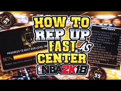NBA 2K18 99 OVR Magurk CENTER METHOD HOW TO REP UP FAST