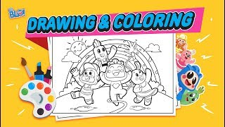 Belajar Gambar dan Warnai Pelangi bersama Hey Blo! | Learn Colouring and Drawing