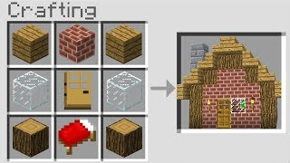 CRAFTING A HOUSE In Minecraft Pocket Edition! (NO MODS!)