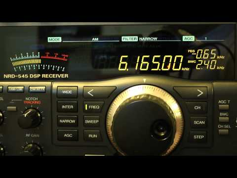 Radio diffusion Nationale Tchadienne 6165 kHz / JRC NRD-545