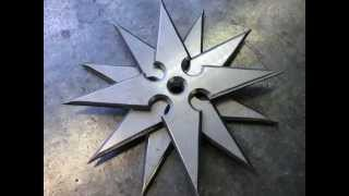 Как сделать сюрикены / Making real Shuriken or Ninja Throwing Stars