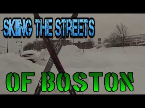 Skiing the Streets Of Boston