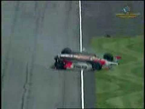 huge sam hornish and paul dana crash