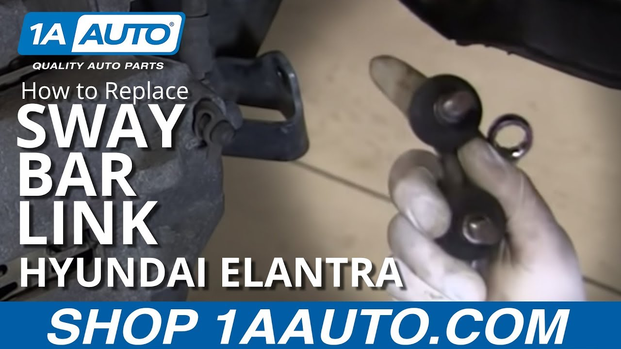 How To Install Replace Broken Rattling Stabilizer Bar Mount 2001 06 Hyundai Elantra Youtube
