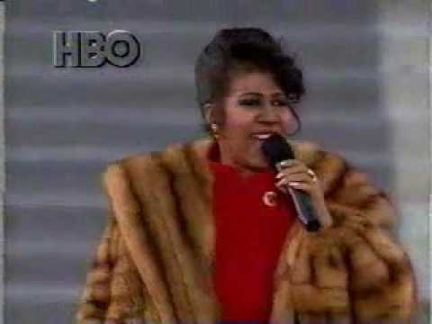 Aretha Bill Clinton Inauguration 1993