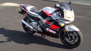 Vintage 1993 Honda CBR600 F2 with Great Sounding Exhaust Pipe