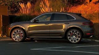 On the road 2015 Porsche Macan Turbo