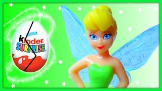 12 Surprise Eggs, Disney Fairies Kinder Surprise Eggs Toys, Tinkerbell Fairy Friends