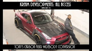 Nissan GTR  Carbon Widebody conversion  - Kream Developments:All access Episode 35 [VIDEO]
