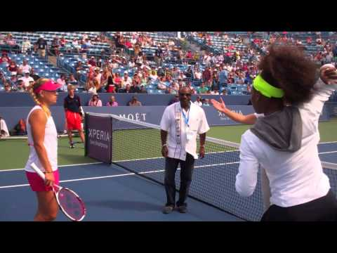 2012 Western & Southern Open Coin Toss -- Angelique Kerber vs. Serena Williams, 08.17.2012