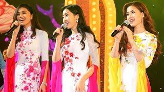 Hoa hậu Đỗ Mỹ Linh, Á hậu Thanh Tú, Á hậu Diễm Trang khoe giọng ngọt ngào với ca khúc Xuân Họp Mặt