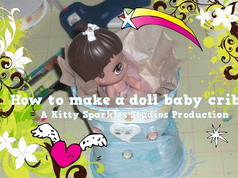 How to make a doll crib