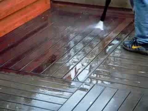 Power Washing Teak Deck - YouTube