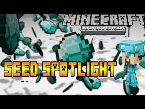 BEST Minecraft Xbox360 Seed EVER // 20 Diamonds At Spawn (TU13)
