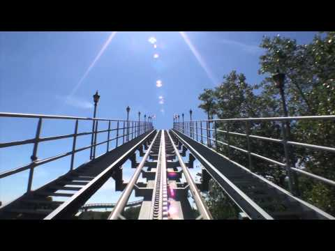 Shock Wave Roller Coaster POV Stand Up Front Seat View Onride Drayton Manor UK England