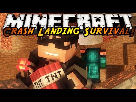Minecraft Modded Crash Landing : JET PACKS AND EXPLOSIONS!