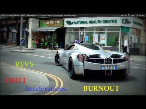 The Most INSANE Supercars 2012 - LOUD Accelerations, Burnouts, Revs, Drifts etc