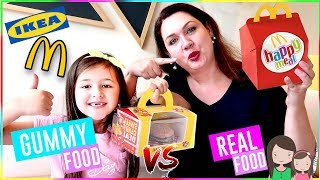 24h GUMMY FOOD vs. RESTAURANT Challenge 😆 Alles Ava