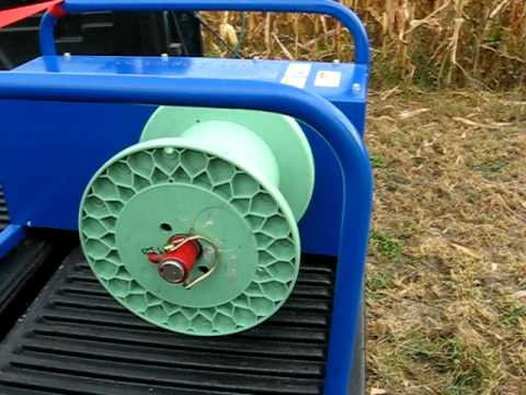 Electric Pickup Truck >> Electric Fence Supplies - Electric Fence Wire Winder - Wire Tornado - YouTube