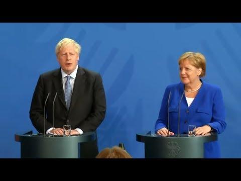 BREXIT Glasklare Positionen bei GesprГchen von Merkel und Johnson