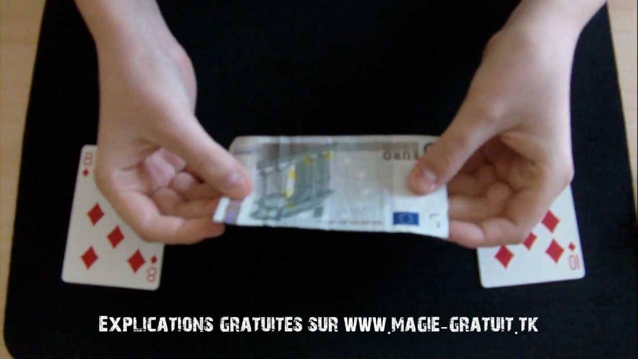 tour de magie gratuit expliqu la carte monnaie youtube. Black Bedroom Furniture Sets. Home Design Ideas