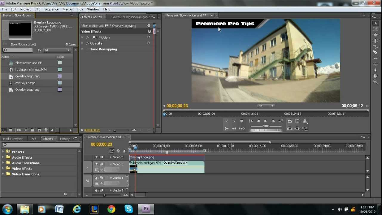 Overlays In Adobe Premiere Pro