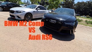 BMW M2 Competition vs Audi RS6 (rolling)