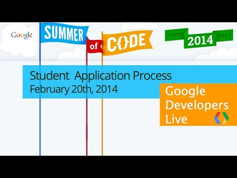 Google Summer Of Code 2014, Student Application Process video