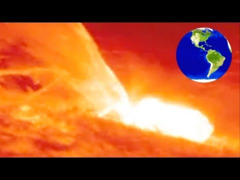 Solar eruptions are insanely huge! See how big here! * 太陽の噴火の大きさは? IMG *