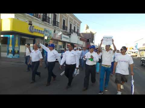 PANISTAS MARCHAN VS REPRESIÓN POLÍTICA EN GUAYMAS