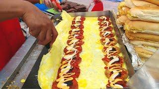 🍔🍔🍔 Street Food CHICKEN & BEEF Burger   Ramly Burgers (鸡肉汉堡, 牛肉汉堡)