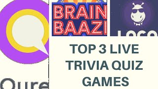 TOP 3 LIVE TRIVIA QUIZ GAME SHOW APP /LATEST WIN PAYTM CASH AND MONEY BY GIVING SIMPLE ANSWERS
