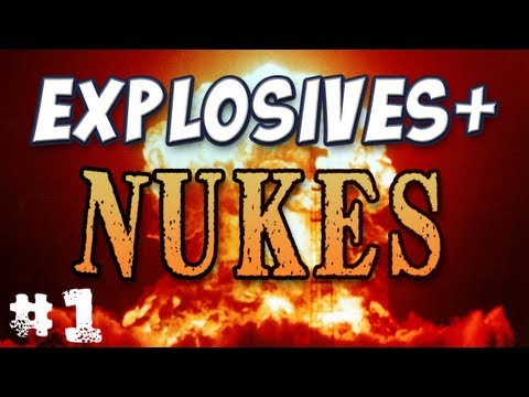 Minecraft - Napalm & Nukes - Explosives+ Mod Part 1 Music Videos