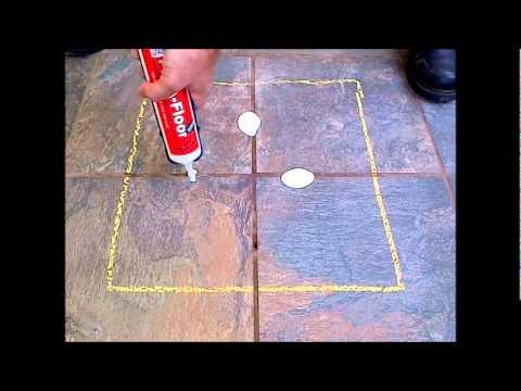 How to fix a broken tile on the floor