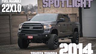 "Spotlight - 2014 Toyota Tundra, 7"" BDS Lift, 22x10 Fuel Assaults, and 35s"