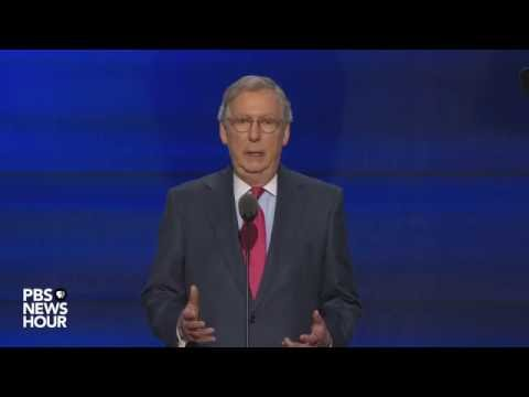 Watch Senate Majority Leader Mitch McConnell speak at the RNC